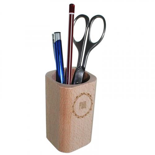 Pot à crayon en bois personnalisé prénom