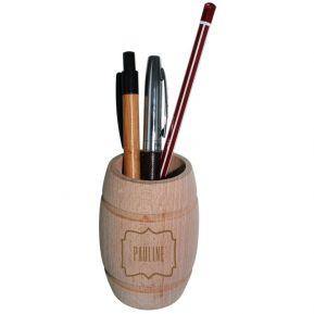 Pot à crayons tonneau gravé