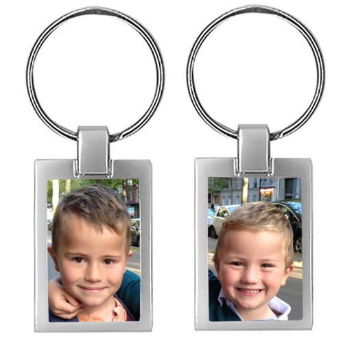 Porte-clés photo 2 faces