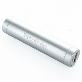 Power bank cylindrique gravé