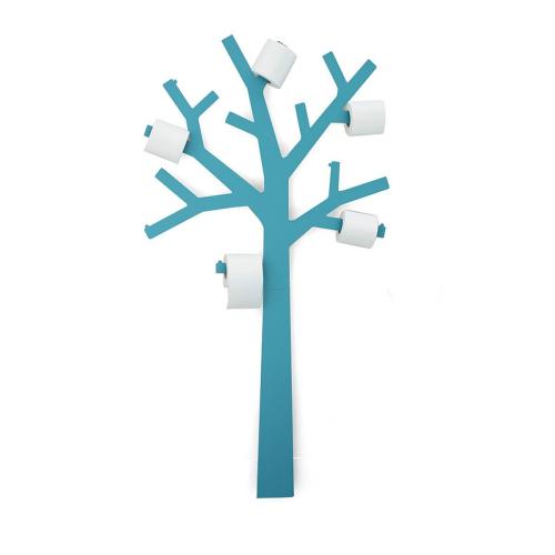 Pqtier turquoise - arbre à papier toilette