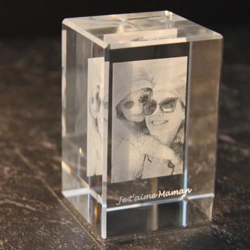 Presse papier rectangulaire avec photo gravée