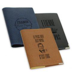 Etui passeport cuir fête des pères personnalisé