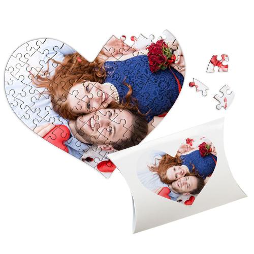 Puzzle coeur couple Saint-Valentin