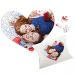 Puzzle coeur couple Saint-Valentin
