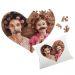Puzzle en forme de coeur personnalisé pour Maman