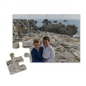 Puzzle magnet photo