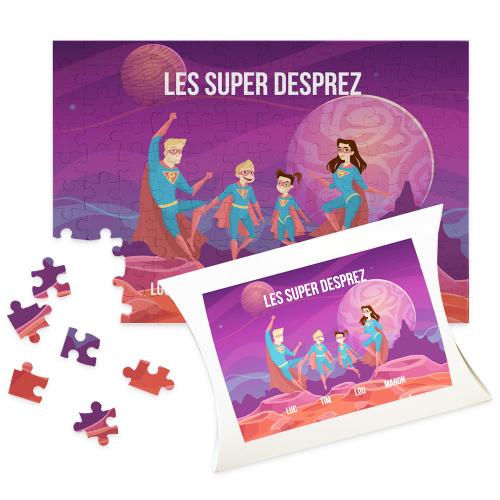 Puzzle personnalisé super heros