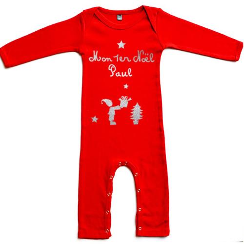 Pyjama personnalisé Noël prénom