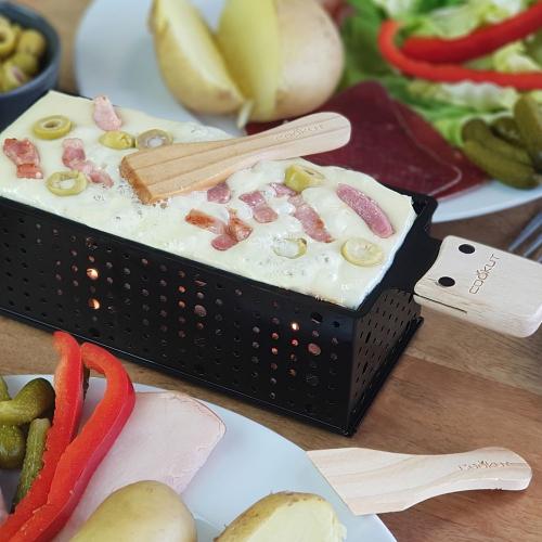 Raclette lardons pour 2