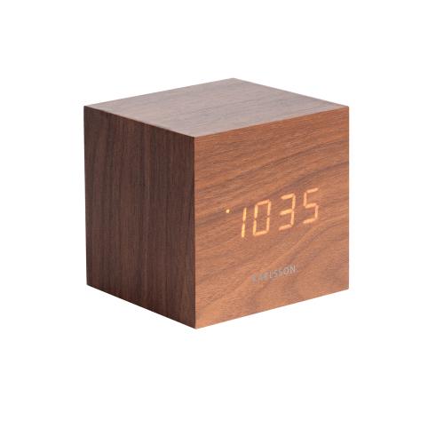 Réveil cube en bois à LED