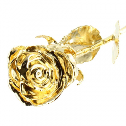 Rose dorée à l'or fin 24 carats