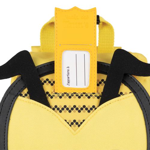 Sac à dos crèche abeille personnalisé Tann's - étiquette