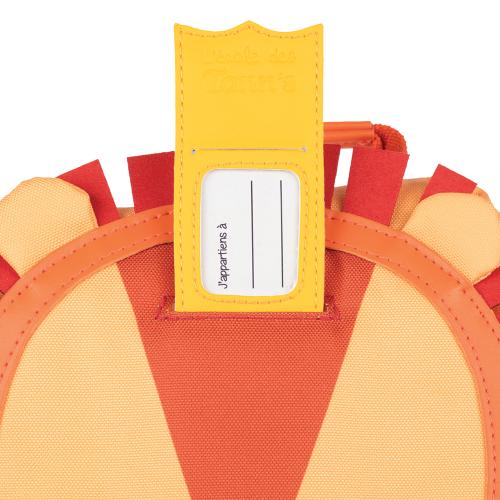 Sac à dos crèche personnalisé Tann's - le Lion- étiquette
