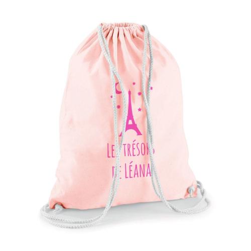 sac à dos enfant rose pâle