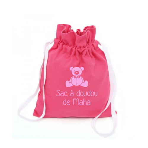 Un sac à doudou prénom imprimé