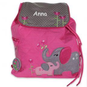 Sac à dos éléphant rose personnalisé