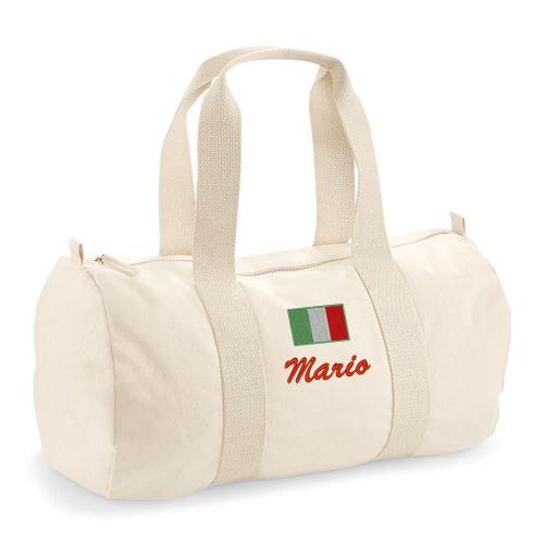 Sac polochon brodé drapeau Italie