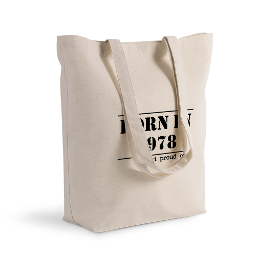 Sac shopping personnalisé born in ... and proud of it
