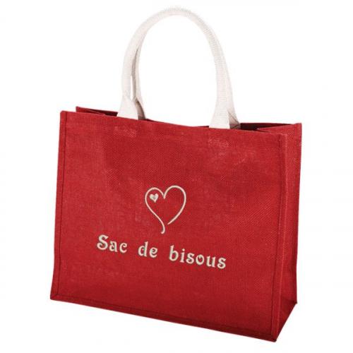 Sac shopping rouge personnalisé