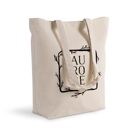 sac shopping carde fleur