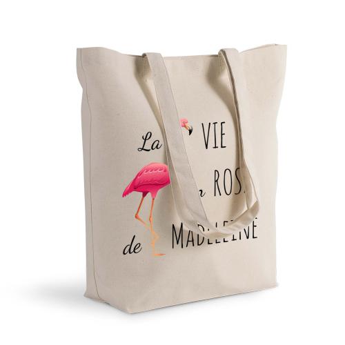 sac shopping personnalisé la vie en rose