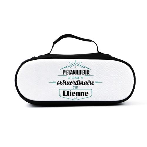 sacoche de pétanque personnalisée aventure pour un bouliste