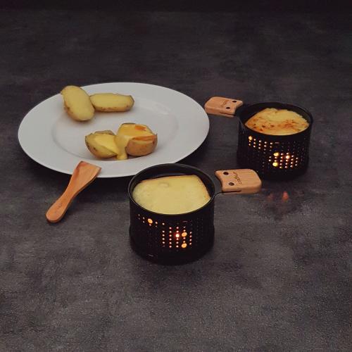 Set de 4 raclettes Lumi portable