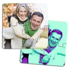 4 sous-verre puzzle personnalisés