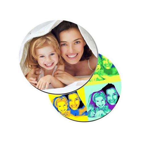 Dessous de verre rond imprimé photo