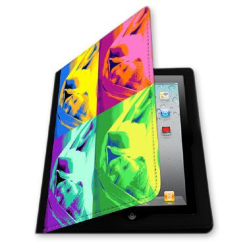 Une protection pour iPad avec photo pop art