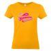 T-shirt abricot personnalisé Super maman