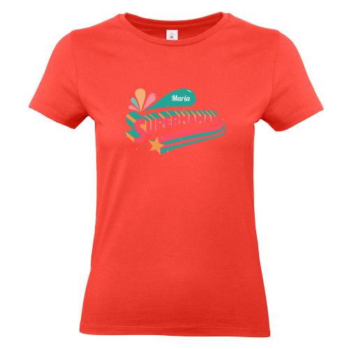 T-shirt corail personnalisé Super maman