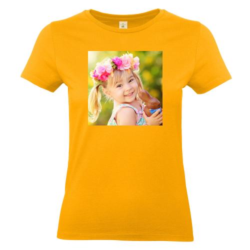 Thsirt femme abricot avec photo