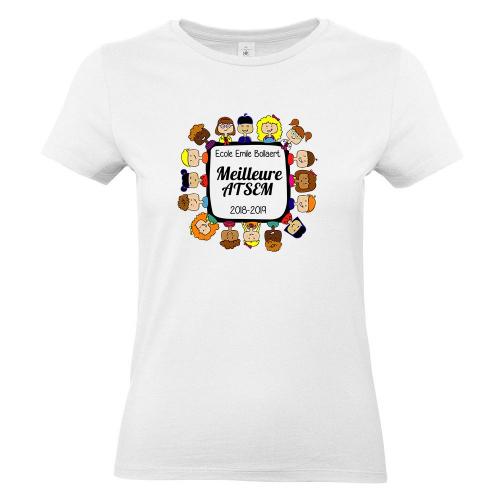 T-shirt Merci Maîtresse blanc femme personnalisé