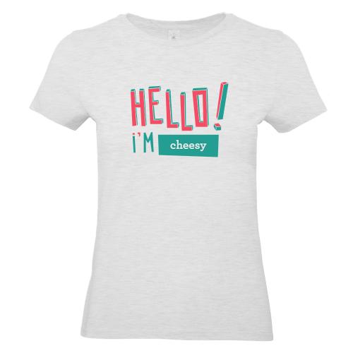 T-shirt Hello gris
