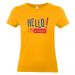 T-shirt Hello jaune