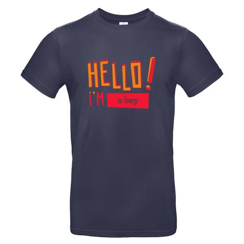T-shirt homme personnalisé Hello marine