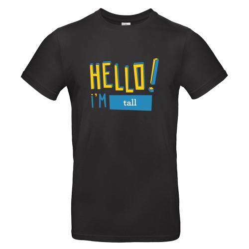 T-shirt homme personnalisé Hello noir