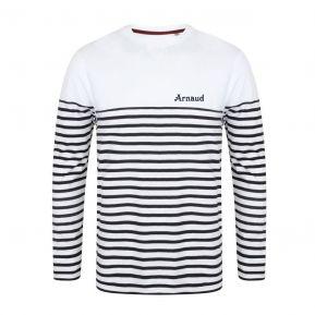 T-shirt Marinière manche longue personnalisé