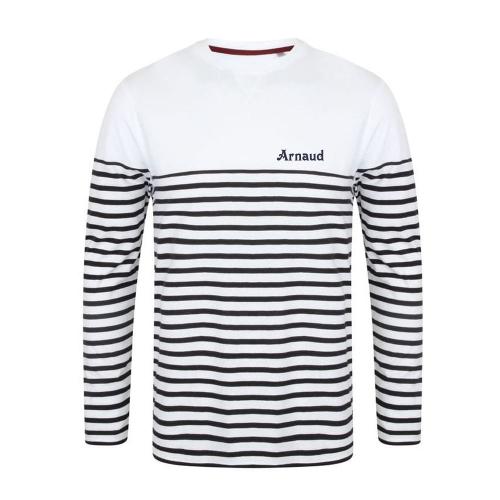 T-shirt marinière long personnalisé
