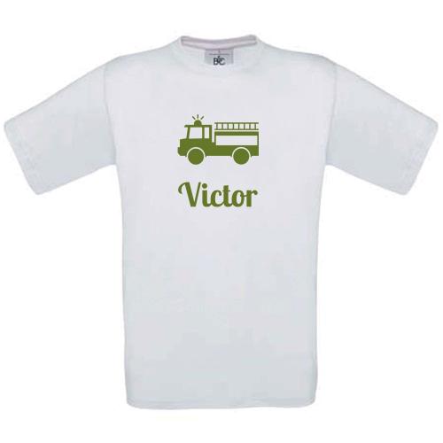 T-shirt enfant personnalisé avec motif blanc