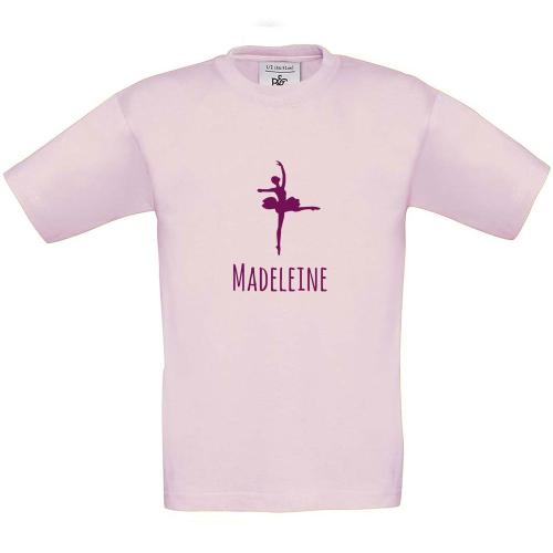 T-shirt enfant personnalisé avec motif rose