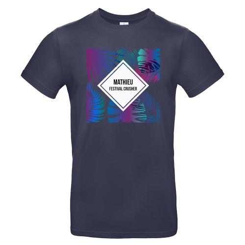 T-shirt Bleu marine personnalisé Summertime