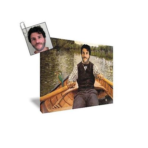 Tableau art avec photo d'homme