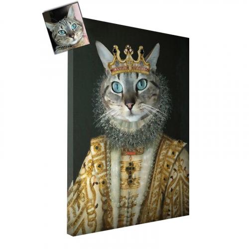 Portrait chat oeuvre d'art personnalisé