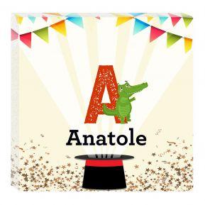 Tableau Alphabet animal personnalisé prénom