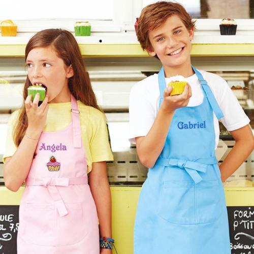 Tablier enfant personnalisé bleu