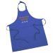 Tablier sommelier en coton bleu roy personnalisé