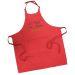 Tablier sommelier en coton rouge personnalisé